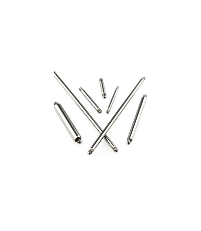 Piercingstav i kirurgisk stål - lige