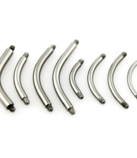 Piercing stav i kirurgisk stål - Banana G16