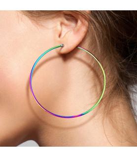 Store Rainbow Hoops Øreringe