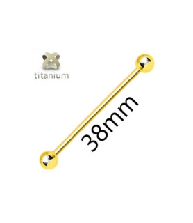 PVD Guldbelagt Industrial i REN Titanium