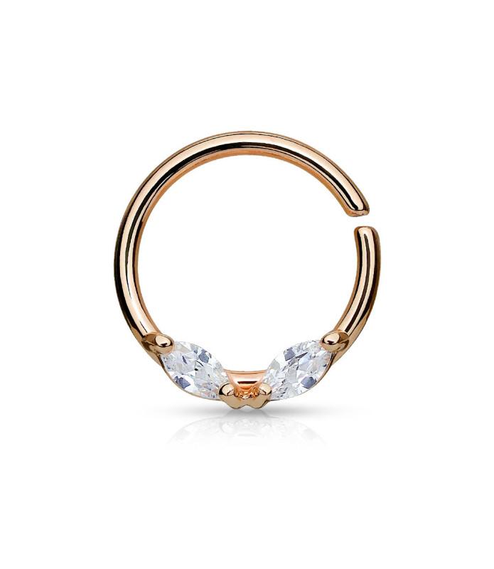 Bøjelig Rose Gold Helix-Tragus Daith Øre-ring med Zirconia