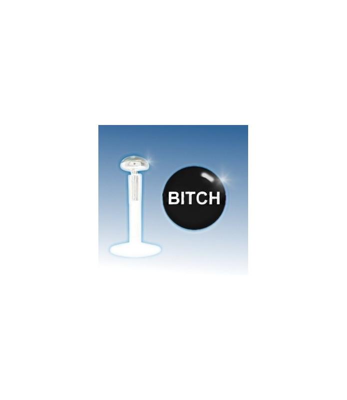 """Læbepiercing 925 Sterling Sølv """"BITCH"""""""