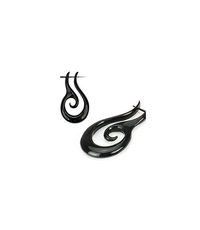 Organisk Håndlavede Tribal Øre Hangers i Duo spiral
