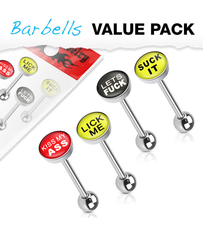 Bonuspakke med 2 CBR - kugleringe til din piercing med 14 kugler