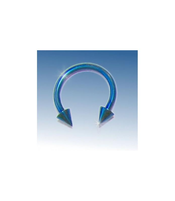 Blå anodiserede 'hestesko' med cones Dia. 12mm