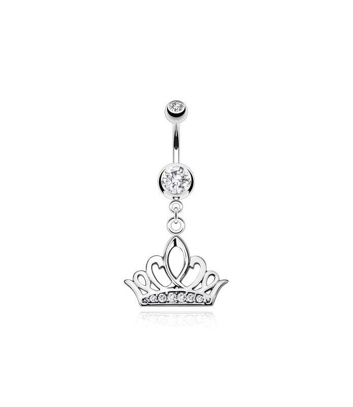 Royal Crown til Navlepiercingen fyldt med Zirconia