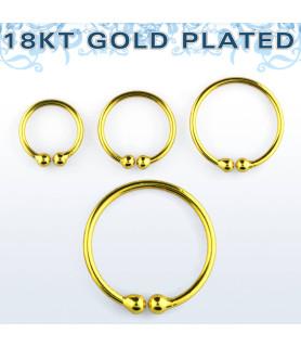 Flot guldbelagt Fake piercing til Næsen / Øret