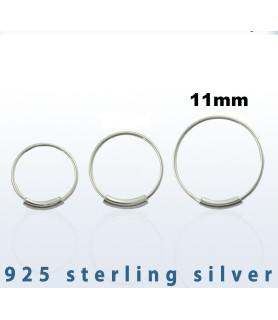 Endeløs sølv Ring G22 Dia. 11 mm.