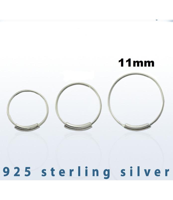 Endeløs sølv Ring G22 Dia. 9 mm.