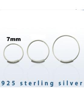 Endeløs sølv Ring G22 Dia. 7 mm.