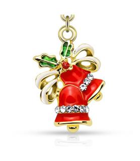 Navlepiercing med Juleklokker - kan også bruges som vedhæng i Ørering
