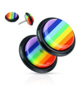 Fed Fake Plug i Rainbow design