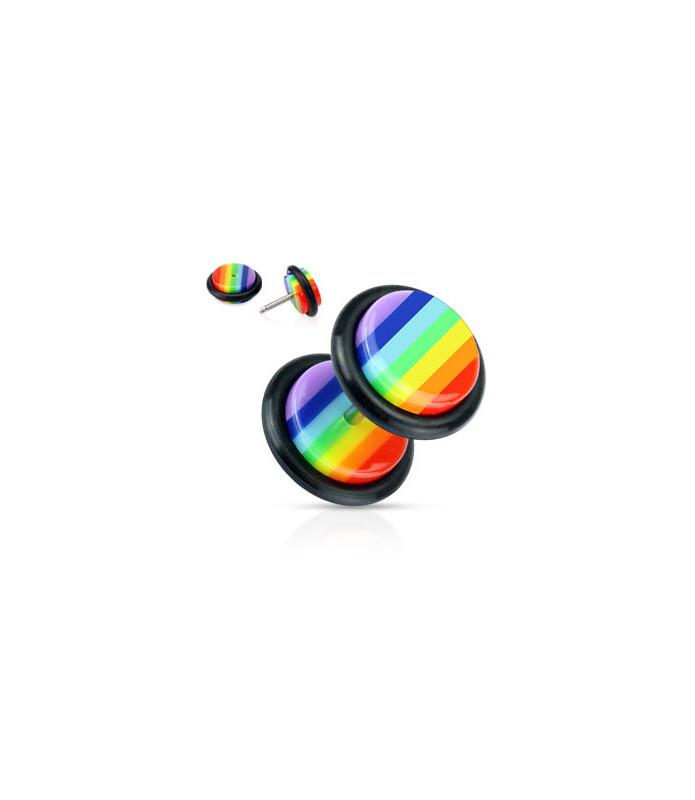 Fed Color Fake Plug i Rainbow design