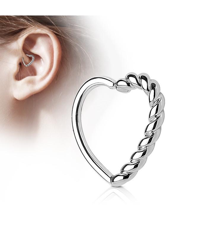 Smukt Hjerte  til Øre Cartilage, Daith eller Helix Piercing