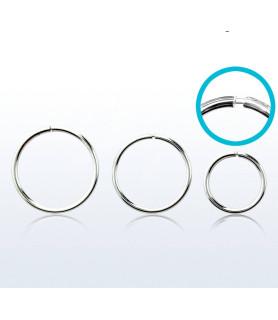 Endeløs sølv Ring G22 Dia. 10 mm.