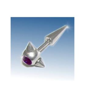Fake stretcher piercing med Mørk lilla Cz.