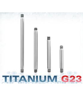 Piercingstav i titanium - lige G14