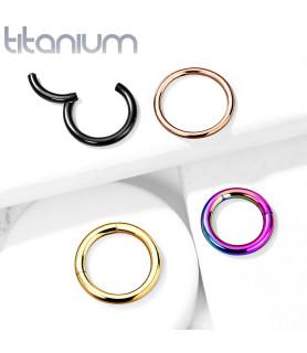 Titanium Næse eller Helix Ring med LET hængsel åbning