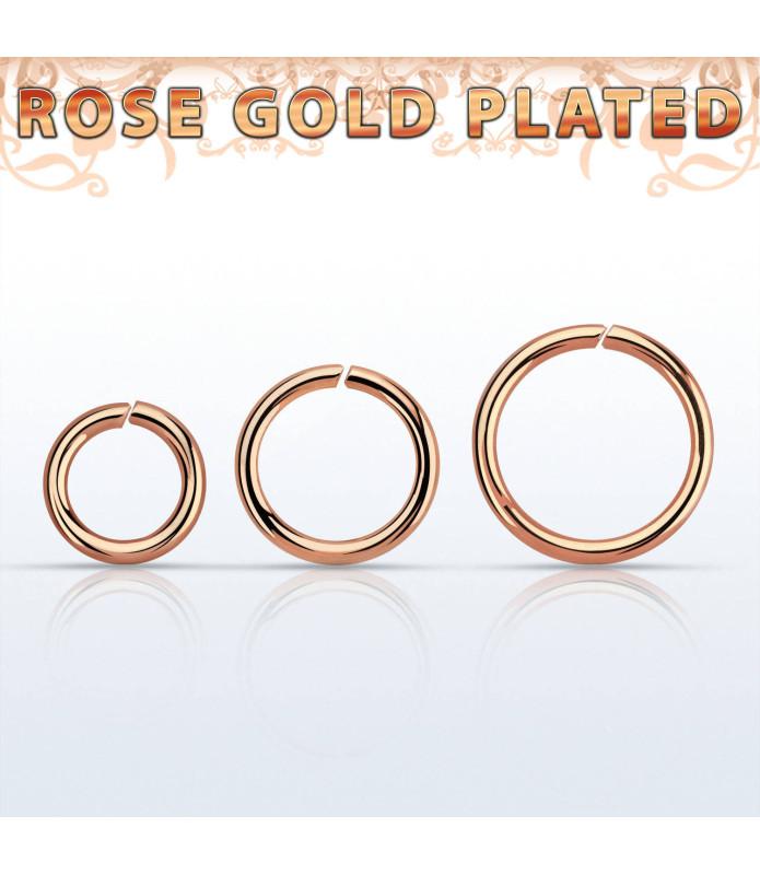 Ægte Sølv ring Til Næse ell Øre -  ROSE GOLD