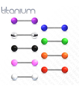 Titanium tungepiercinger i mange flotte farver