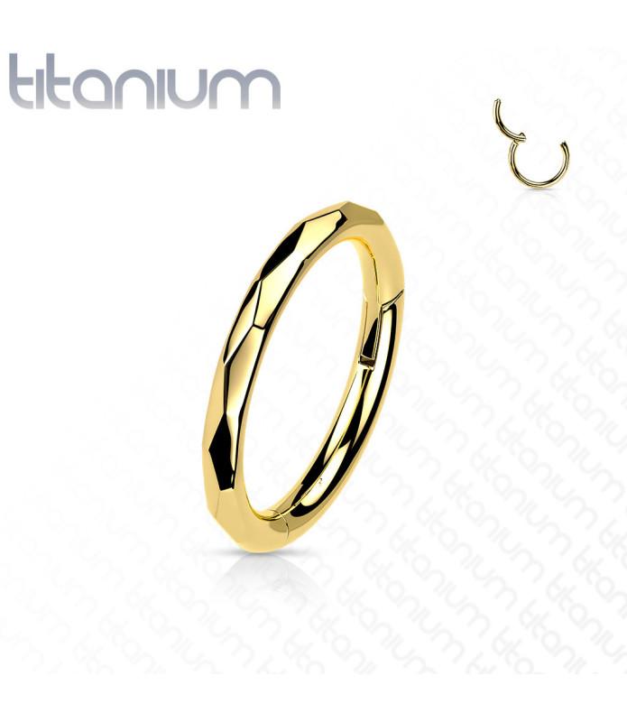 Titanium Næse ell. Tragus  - Helix ring med hængsel