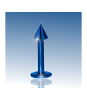 Flot Labret G16 med blå anodisering og 8mm. Stavlængde