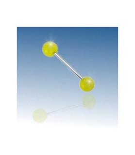 Tunge stav med GULE UV-AKTIVE acrylkugler