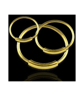 Guldbelagt Sølv - endeløs Ring dia. 7-11 mm.