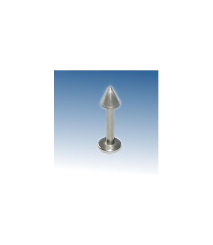 Labrets med stål-cones længde 8 mm. Gauge 14
