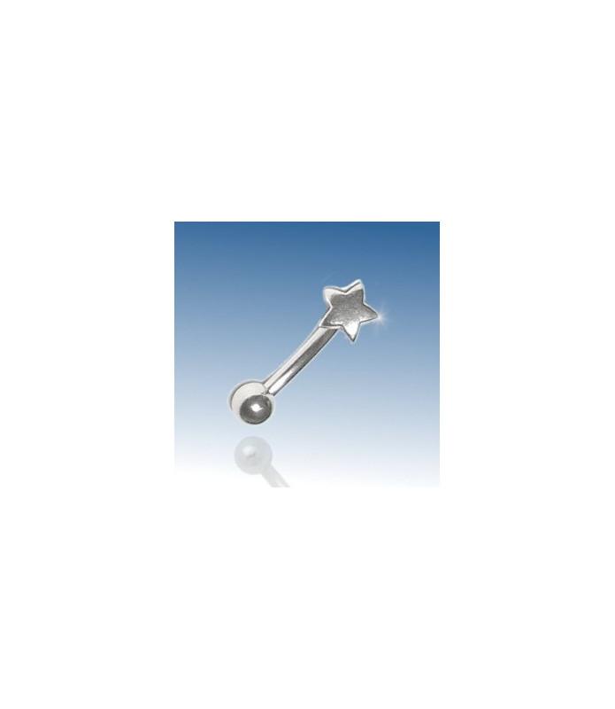 Stjerne - øjenbrynspiercing 316L