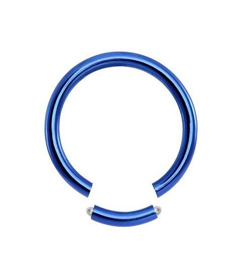 Blå Gauge-16 segment ring i ren titanium 4 str.