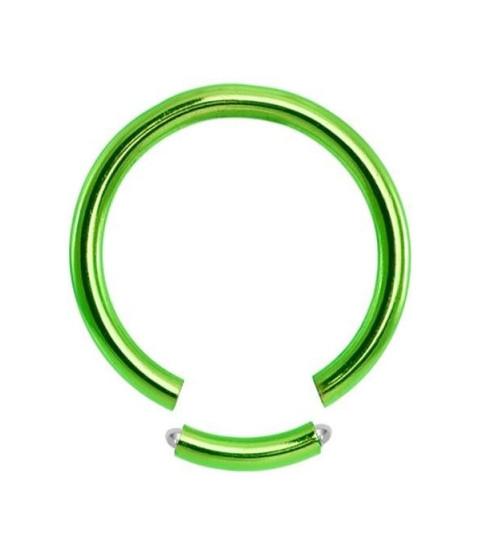 Grøn Gauge-16 segmentring i ren titanium