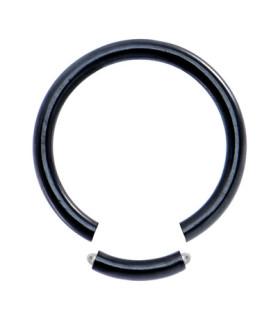 Sort Gauge-16 segmentring i ren titanium