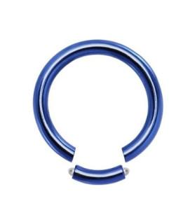 Lysblå Gauge-16 segmentring i ren titanium