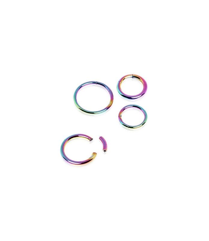 Rainbow Gauge-16 segmentring i ren titanium