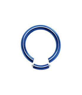Lysblå Gauge-14 segmentring i ren titanium