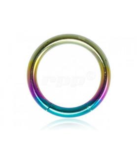 Rainbow Gauge-14 segmentring i ren titanium