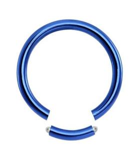 Blå Gauge-14 segmentring i ren titanium