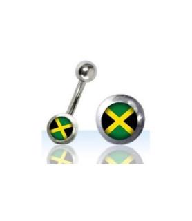 Navlepiercing med Reggae logo