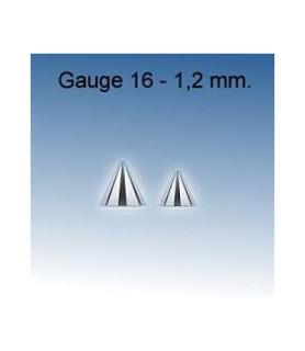 Cones til piercing i kirurgisk stål G16