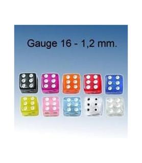 Terninger i mange farver - G16 - 1,2 mm.