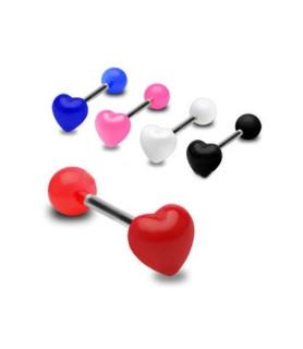 Sød tungepiercing med hjerte