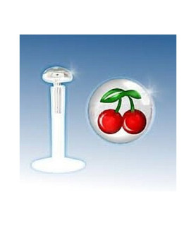 """Læbepiercing ægte Sølv """"Cherry"""""""