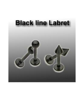 Blackline labret læbepiercing G14